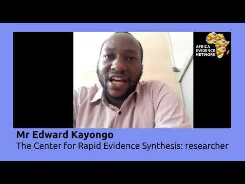 Africa Evidence Week 2021: Emerging EIDM leader_Edward Kayongo: why I fell in love with EIDM