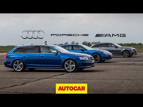 Drag Race: Tuned V10 Audi RS6 vs AMG E63 S vs Porsche Panamera Turbo   Autocar