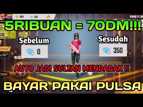 MODAL PULSA 5 RIBUAN DAPAT 70 DIAMOND! AUTO SULTAN DAH !! TRIK DIAMOND MURAH FREE FIRE BATTLEGROUND!