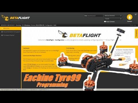 Eachine Tyro99, Part 2: BetaFlight & BLHeliSuite Programming