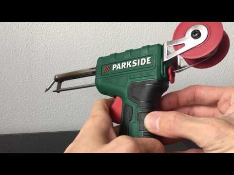 Parkside PLPD 60 A1 soldering gun with solder feed / Parkside forrasztó