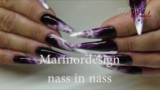 Gel Marmor Naildesign Nass In Nass   Nothing But Nails Marble Design