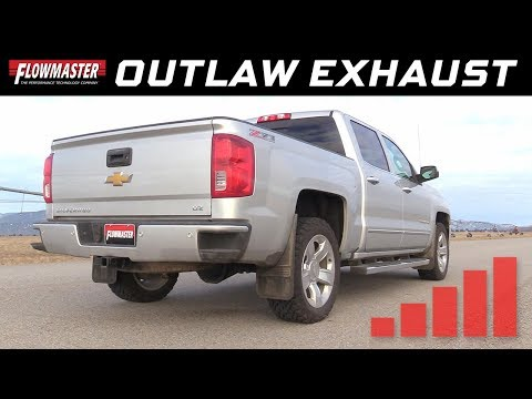 2014-19* GM Silverado/Sierra 1500 5.3L - Outlaw Extreme Cat-Back Exhaust System 817916
