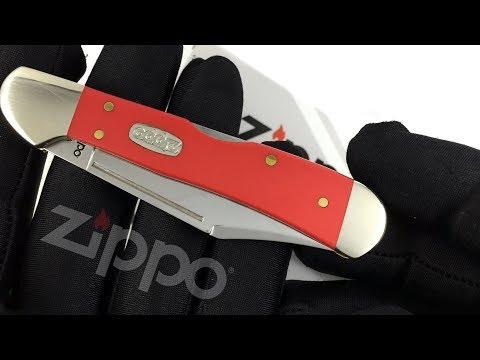 50530 Нож перочинный Zippo Red Synthetic Smooth Mini CopperLock, 92 мм, красный