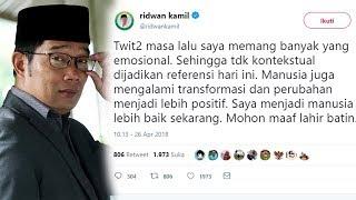Kicauan Twitter Masa Lalu Hina Sejumlah Tokoh Terungkap, Ridwan Kamil Minta Maaf