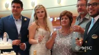 MSC ORCHESTRA WEDDING ABOARD - CRUISE SHIP - SOMEWHERE OVER THE RAINBOW - WEDDING SONG