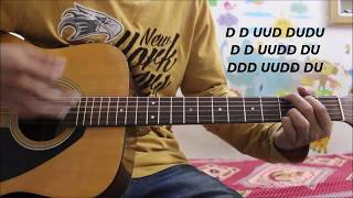 Teri Khaamiyan - Akhil - Punjabi song Guitar Cover Lesson chords easy