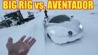 Lamborghini Aventador Snow Plow meets Utah Snow Typhoon
