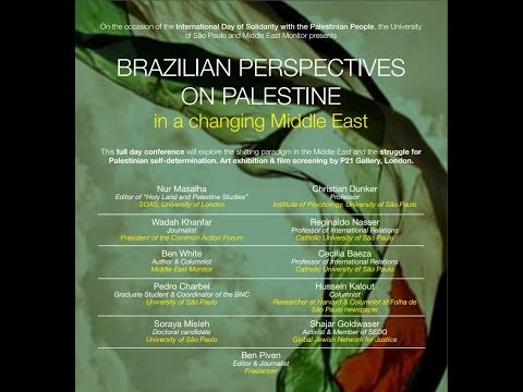 Brazilian perspectives on Palestine in a changing Middle East - 1st Session