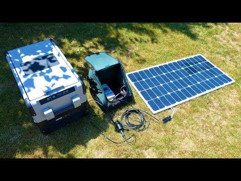 Kühlbox mit Solarpanel betreiben - ganz einfach mit der Ferropilot Solar Powerbank