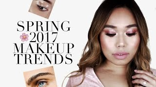 4 Must-Try Spring Makeup Trends: Glossy Lids, Feathered Brows, Monochromatic Makeup