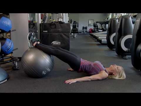 Leg Curl on stability ball