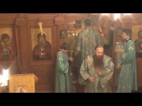 Церковное пение молитвы  Отче наш  6 декабря Храм в Мурмашах