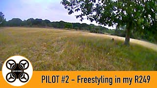 Game of Drones, Pilot #2 FPV - Freestyle in the field with the Diatone R249.