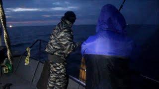 Ночная рыбалка на омуля с подсветкой