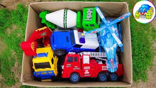 Fire Truck, Crane Truck, Concrete Mixer, Dump Truck - Learn About The Function Of Cars - Kid Studio