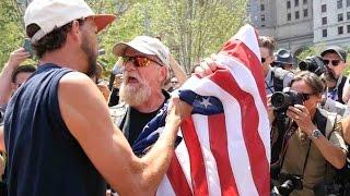 Flag Haters vs Patriot Biker