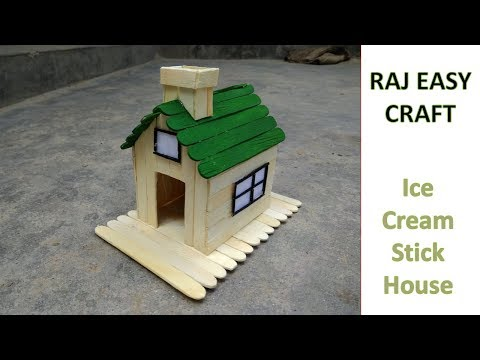How To Make Popsicle Stick House