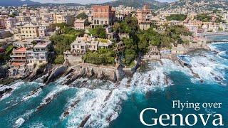 Flying over Genova Italy - Dji Phantom 4