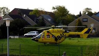 preview picture of video 'Rettungshubschrauber startet in Tossens'
