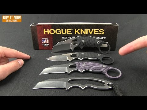 "Hogue Knives EX-F03 Clip Point Neck Knife (2.25"" Stonewash) 35370"