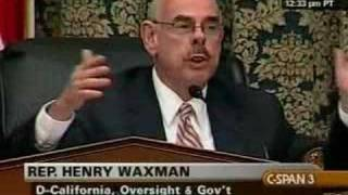 Waxman Threatens to Kick Issa Out of Hearing Room