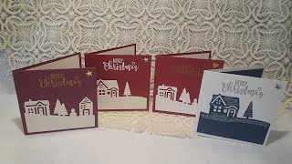 Christmas card's using hearts come home