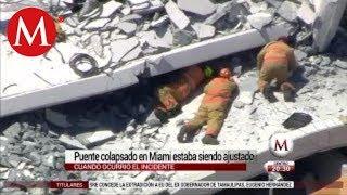 Florida: puente cayó mientras hacían prueba; van 6 muertos