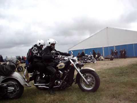 Vertrek op Moto Guzzi Treffen 2010