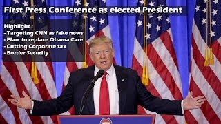 Highlights of Donald Trump first press conference in 2017