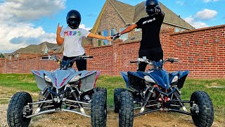 RIDING FOUR WHEELERS ! (RAN FROM COPS)