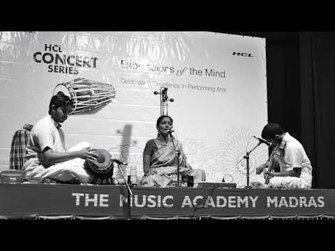 Drum solo in cycle of 16 beats. Venue: The Music Academy Madras.