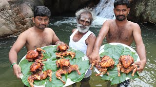 CHALLENGE!!! 6 Kg Fried CHICKEN Prepared by Daddy Challenged by EC Boys / Village food factory