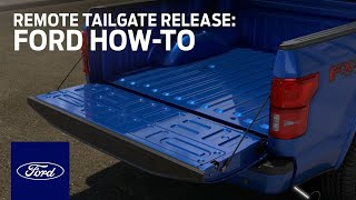 Remote Tailgate Release | Ford How-To | Ford