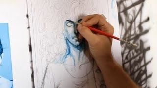 How to Color Comic Books Using Paint : Comic Book Artists