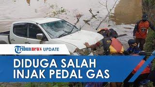 Detik-detik Evakuasi Mobil Terjun Bebas ke Sungai Mahakam, Diduga Sopir Tak Sengaja Injak Pedal Gas