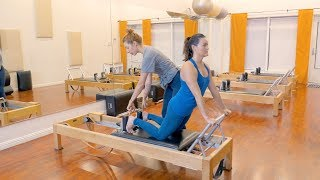 Down Stretch on the Reformer - Lesley Logan
