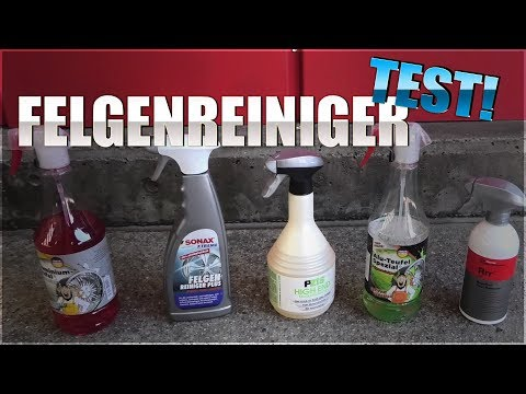 Felgenreiniger Test | Koch Chemie RRR | Dr Wack P21s High End | Sonax Felgenreiniger |Tuga grün rot
