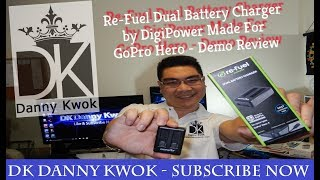 Re-Fuel Dual Battery - Fast Charger Time - by DigiPower Made For GoPro Hero - DEMO Review