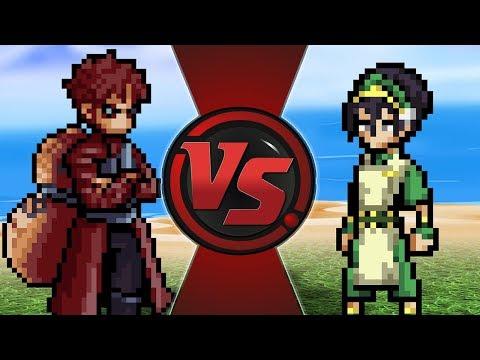 GAARA vs TOPH! (Naruto vs Avatar)   CARTOON FIGHT CLUB BONUS!