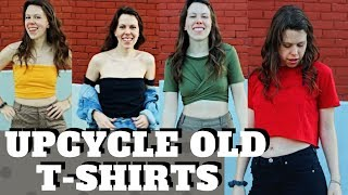 DIY | 4 Ways To Upcycle Your Old T-shirts (NO SEW) - Tops To Crops Style