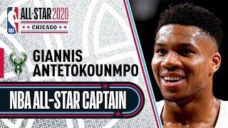 Giannis Antetokounmpo 2020 All-Star Captain   2019-20 NBA Season