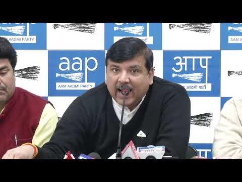 AAP Rajya Sabha Member Sanjay Singh Briefs on Media on Rafale Issue