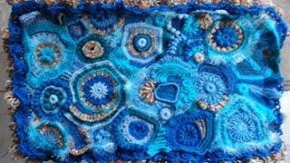 Couverture Bébé Free Form Au Crochet