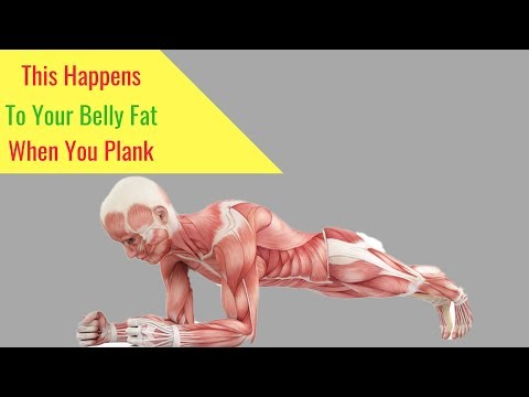 When you plank this happens to your stomach fat