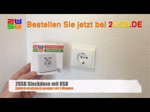 Wie installiere ich ein 2USB Schuko Steckdose mit USB-Ladegerät?