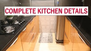 Modular kitchen ideas for small home   budget kitchen  luxury & modern look  small area kitchen tips