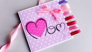 How to Make - Easy Greeting Card Mother's Day - Step by Step | Kartka Na Dzień Matki