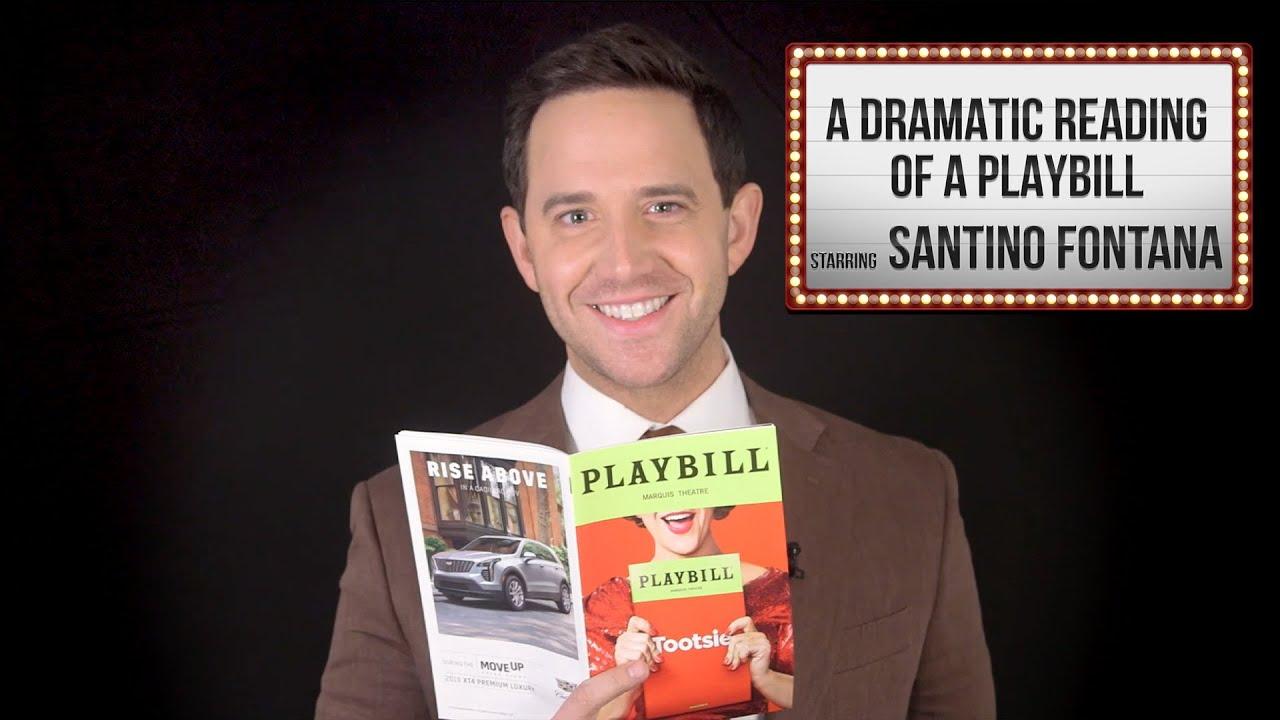 Santino Fontana: A Dramatic Reading Of A Playbill thumbnail