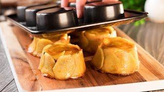 Выложите ломтики картошки по формочкам для кексов и получите кулинарный шедевр | Appetitno.TV